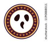 halloween face seal stamp | Shutterstock .eps vector #1190888011