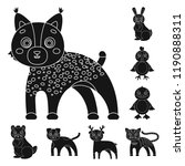 toy animals black icons in set... | Shutterstock . vector #1190888311