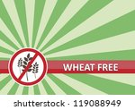 Wheat free banner for food allergy concept - stock vector