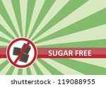 Sugar free banner for food allergy concept - stock vector