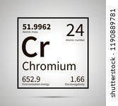 chromium chemical element with...   Shutterstock .eps vector #1190889781