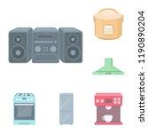 types of household appliances...   Shutterstock . vector #1190890204