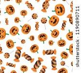 halloween sweet candies and... | Shutterstock .eps vector #1190890711