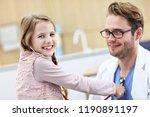 little girl in clinic having a...   Shutterstock . vector #1190891197