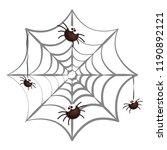 happy halloween spiders in...   Shutterstock .eps vector #1190892121