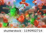 flu and common cold  blood... | Shutterstock . vector #1190902714