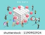 flat isometric vector concept... | Shutterstock .eps vector #1190902924