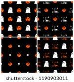 cute halloween pattern in... | Shutterstock . vector #1190903011