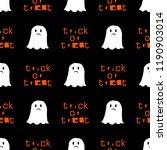 cute ghost halloween pattern in ... | Shutterstock . vector #1190903014