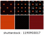 cute pumpkin halloween patterns ... | Shutterstock . vector #1190903017
