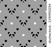 simple panda face pattern on... | Shutterstock . vector #1190903254
