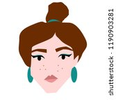 female young european face... | Shutterstock . vector #1190903281