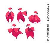 santa claus cartoon figures...   Shutterstock .eps vector #1190906671