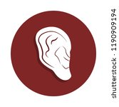 human ear icon in badge style....