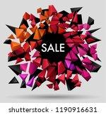 sale poster template design ... | Shutterstock .eps vector #1190916631