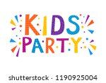 kids party text banner. vector... | Shutterstock .eps vector #1190925004