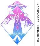 mystical symbol paranormal... | Shutterstock .eps vector #1190925727