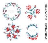 cherry wreath   bouquet | Shutterstock . vector #1190926981