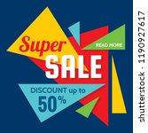 super sale   vector creative... | Shutterstock .eps vector #1190927617