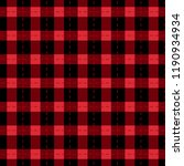 Checkered Black And Red...