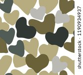 vector heart camouflage green...   Shutterstock .eps vector #1190934937
