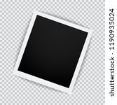 old empty realistic photo frame ... | Shutterstock .eps vector #1190935024