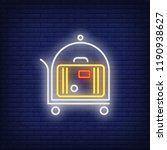 carriage of baggage neon sign....   Shutterstock .eps vector #1190938627
