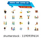 people and coffee icon set....   Shutterstock .eps vector #1190939614
