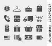 shopping flat vector icons set. ... | Shutterstock .eps vector #1190942317