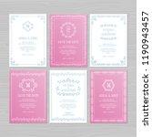 luxury wedding invitation or... | Shutterstock .eps vector #1190943457