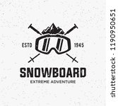 collection of snowboarding... | Shutterstock .eps vector #1190950651