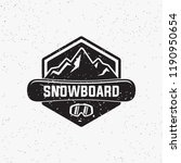 collection of snowboarding... | Shutterstock .eps vector #1190950654