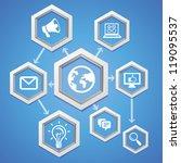 vector education concept  ... | Shutterstock .eps vector #119095537