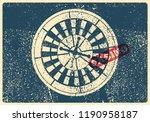 casino typographical vintage...   Shutterstock .eps vector #1190958187