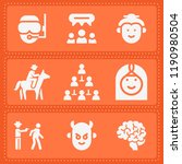 set of 9 people filled icons... | Shutterstock .eps vector #1190980504