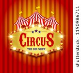 carnival banner. circus. fun... | Shutterstock . vector #1190986711