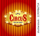 carnival banner. circus. fun...   Shutterstock . vector #1190986714