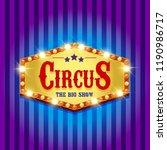 carnival banner. circus. fun... | Shutterstock . vector #1190986717