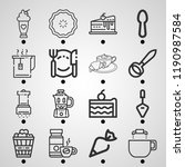 simple set of  16 outline... | Shutterstock .eps vector #1190987584