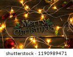 top view of christmas ornament... | Shutterstock . vector #1190989471