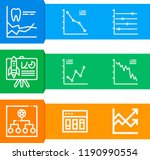 simple set of  9 outline vector ... | Shutterstock .eps vector #1190990554