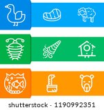 simple set of  9 outline vector ... | Shutterstock .eps vector #1190992351