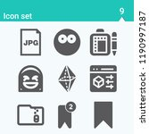 contains such icons as browser  ... | Shutterstock .eps vector #1190997187
