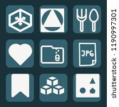 contains such icons as cube ... | Shutterstock .eps vector #1190997301
