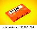 a vintage cassette tape ... | Shutterstock . vector #1191001504