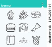 contains such icons as bread ... | Shutterstock .eps vector #1191008464