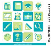 back to school icons series  ... | Shutterstock .eps vector #1191011911