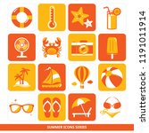 summer icons series   lifebuoy  ...   Shutterstock .eps vector #1191011914