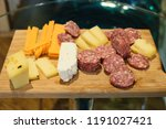 meat and cheese sample board | Shutterstock . vector #1191027421