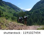 hiking around vail resort... | Shutterstock . vector #1191027454